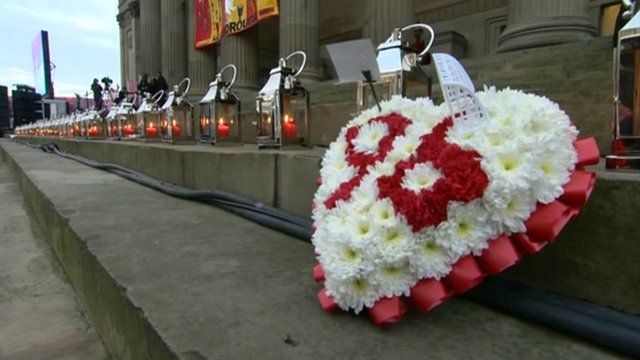 A vigil took place in Liverpool city centre