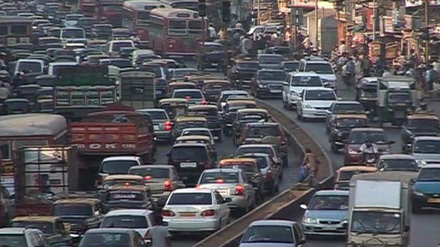 Traffic in Mumbai