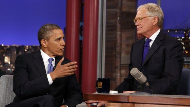 President Obama and David Letterman