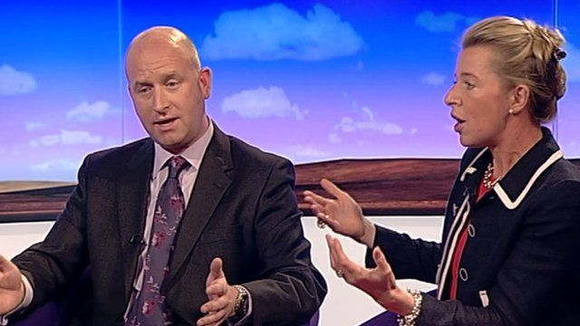 Paul Nuttall and Katie Hopkins