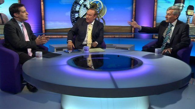 Evan Harris, Andrew Neil and John Redwood