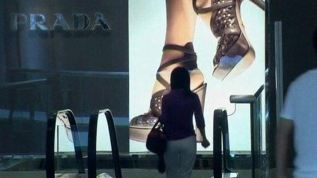 Inside Prada store