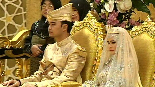 Brunei Royal bride and groom