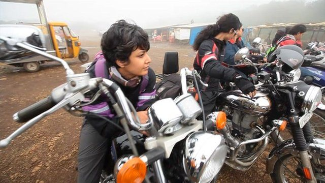 Group of female bikers