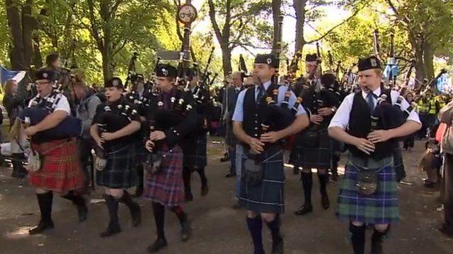 Scottish marchers
