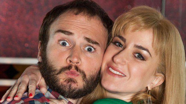 Oliver Lansley and Katherine Kelly