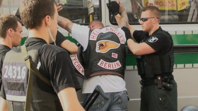 Police searching Hells Angels biker