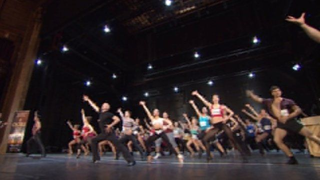 A Chorus Line audition