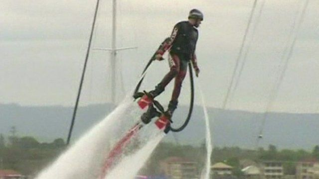 Flyboarder in Australia
