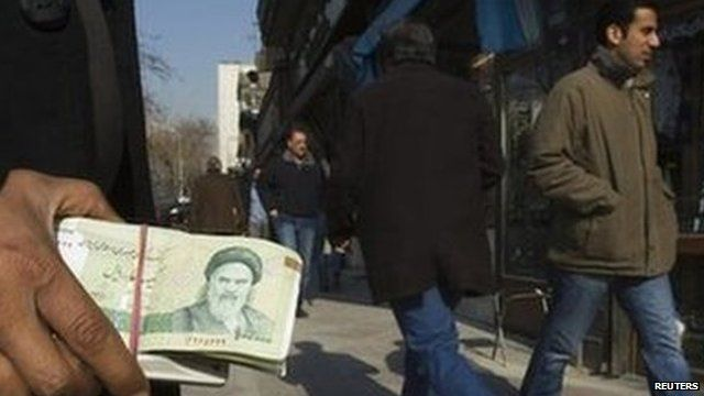Money changer in Tehran