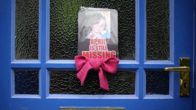 Poster for April Jones on front door