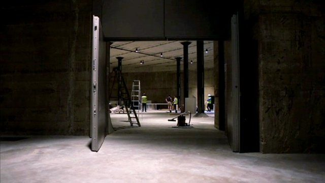 Inside a tank at Tate Modern