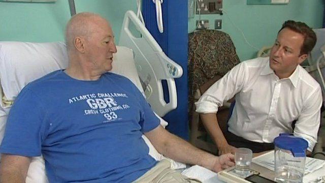 David Cameron and patient