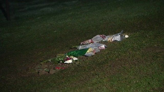 Flowers left at site of Sir Jimmy Savile's grave in Scarborough