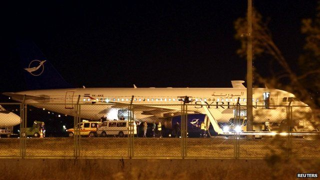 Syrian passenger plane forced to land at Turkey's Esenboga airport