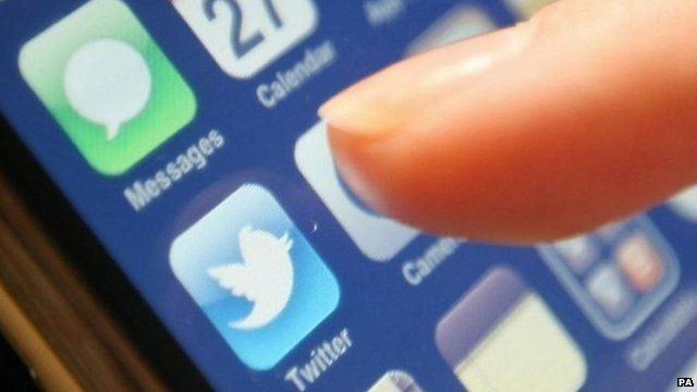 Twitter application on iPhone