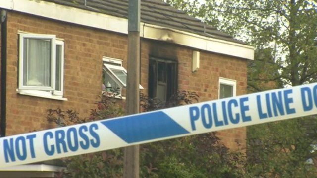 The scene of the house fire at Harlow in Essex.