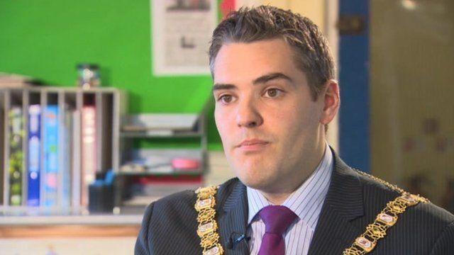 Lord mayor of Belfast Gavin Robinson