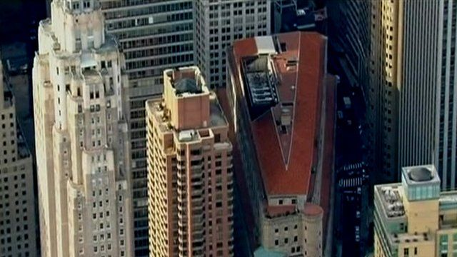 Aerial view of Federal Reserve building