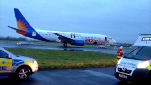 Aeroplane on runway