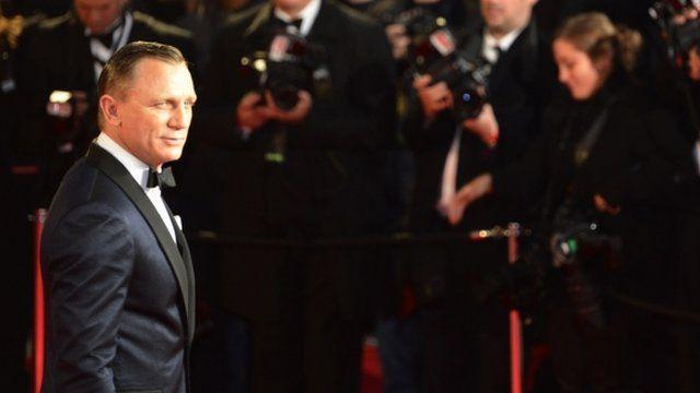 Daniel Craig at world premiere of Skyfall in London