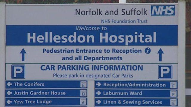 Sign for Hellesdon Hospital