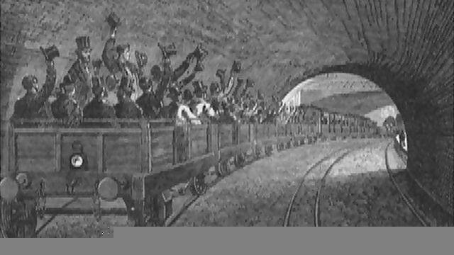 A trial trip on the Underground railway