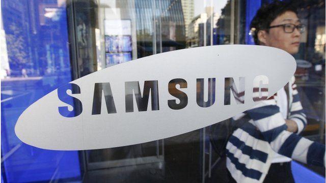 Samsung sign in shop window