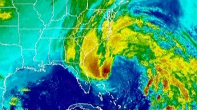 Satellite image of Sandy