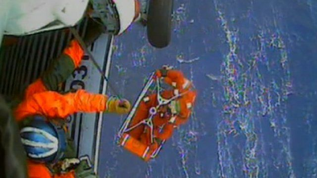 Rescue of HMS Bounty crewmember