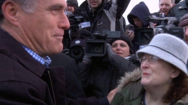 Mitt Romney and character Janeane