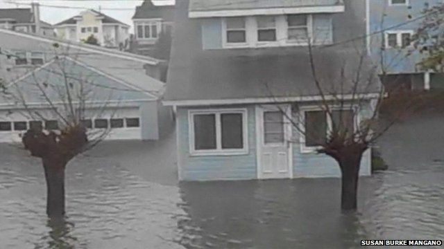 Flooding in Ocean City New Jersey, courtesy Susan Burke Mangano/YouTube