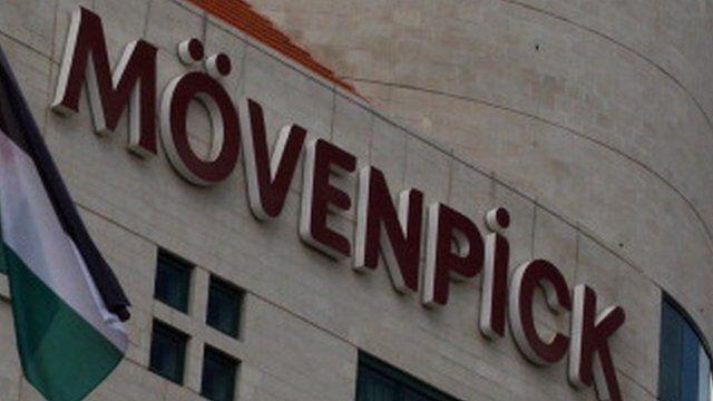 Movenpick hotel sign