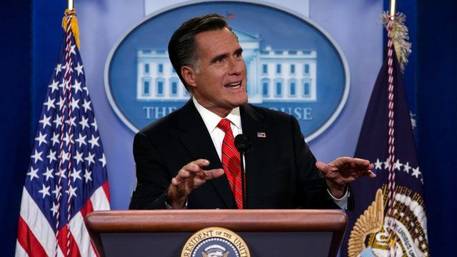 Mocked-up image of Mitt Romney at the White House
