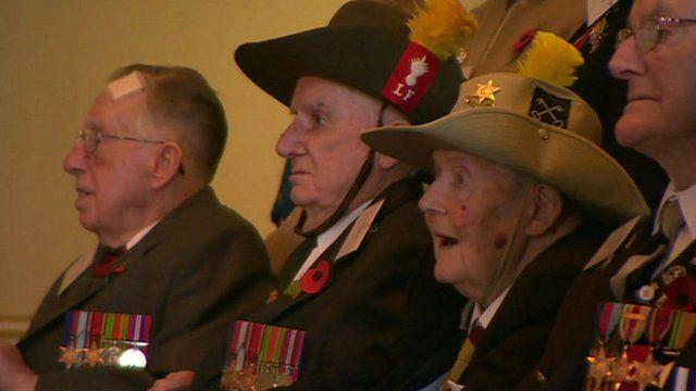 World War II veterans at Buckingham Palace reception