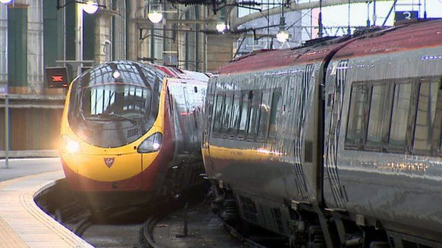 Virgin Trains in Glasgow's Central Station