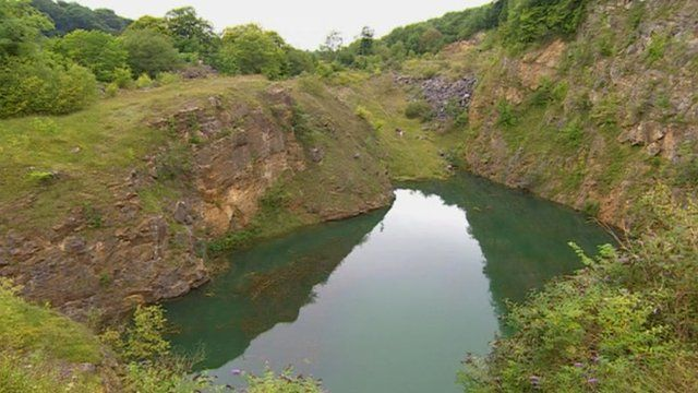The quarry pool where Ryan Walker drowned