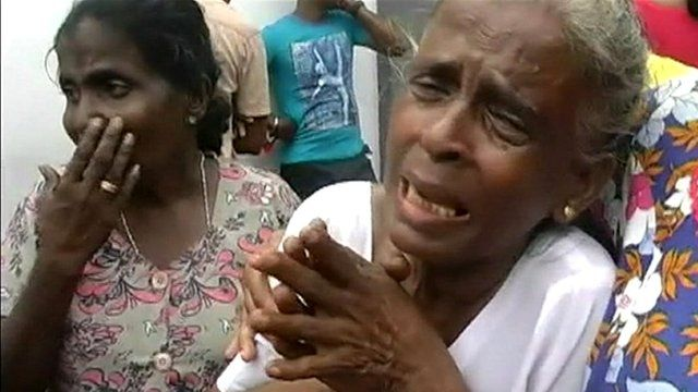 Relatives of prisoners killed in the Sri Lankan prison