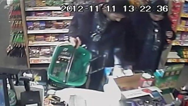 CCTV of poppy cash raid