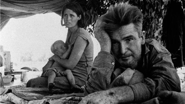 Dust bowl-era family