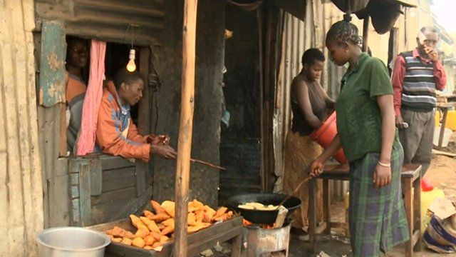 People in a Nairobi street