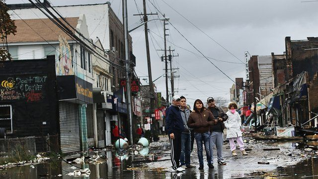 Hurricane Sandy devastation in New York City
