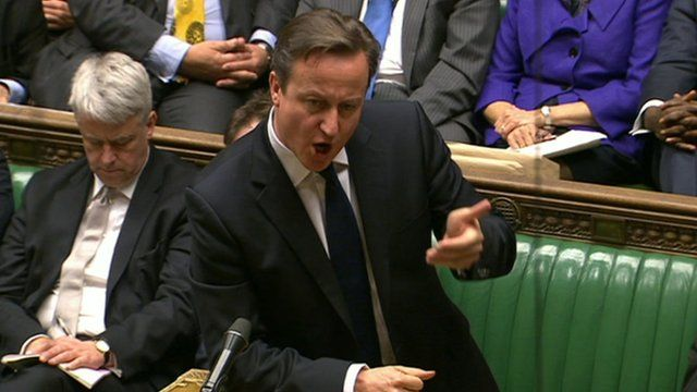 David Cameron in Commons