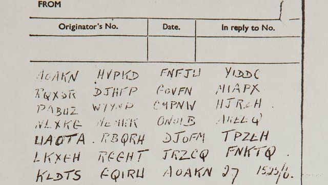 Detail of pigeon message code