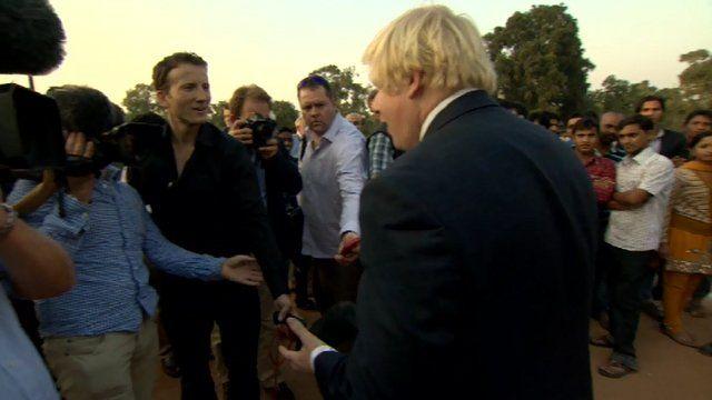 Boris Johnson in India