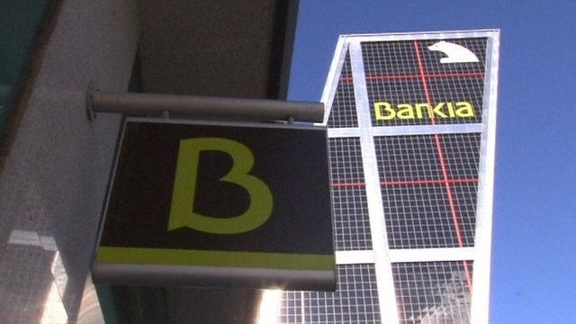 Bankia sign and building