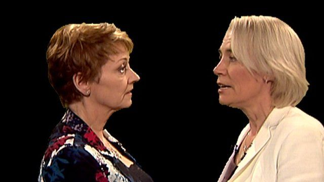 Anne Diamond and Sarah Baxter