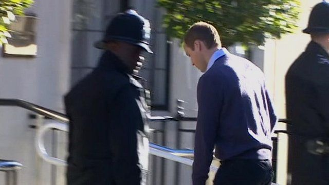 The Duke of Cambridge, Prince William, arriving at hospital