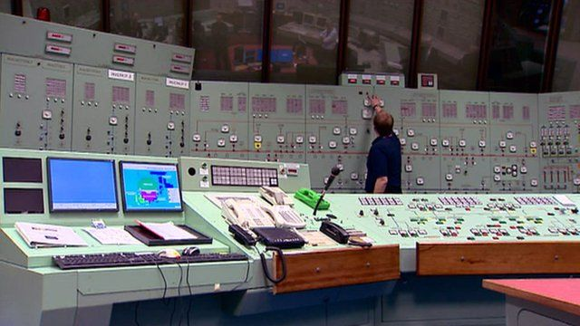 Control panel in Hunterston B