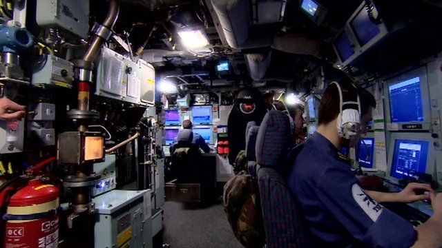 Inside submarine
